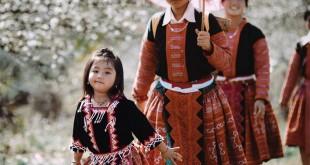 Thiếu nữ H'mong - Ngắm hoa mận Mộc Châu